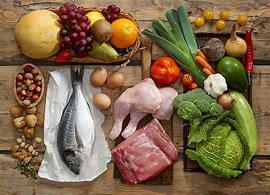 食材に含まれる栄養素の割合